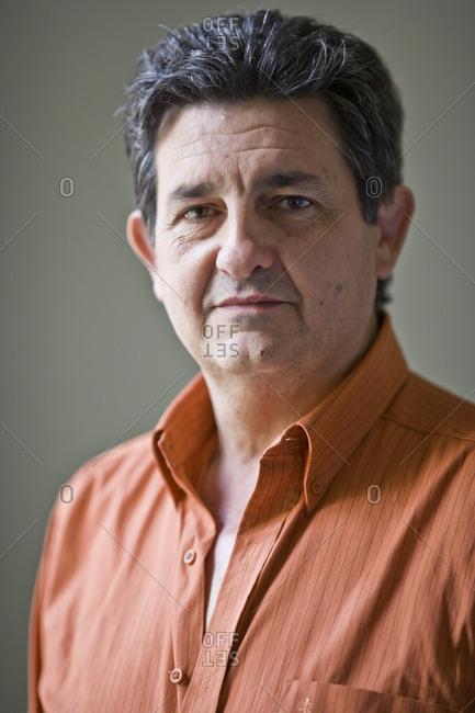 Portrait of mature adult man.