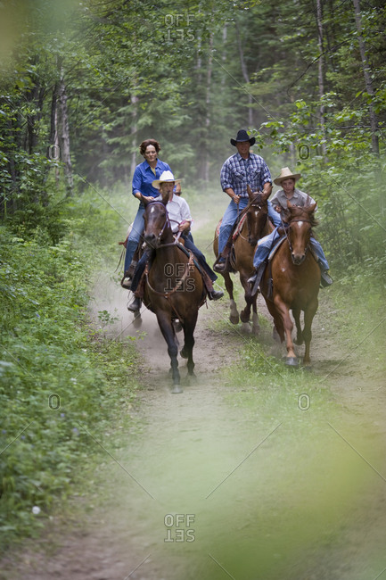 Family horseback riding