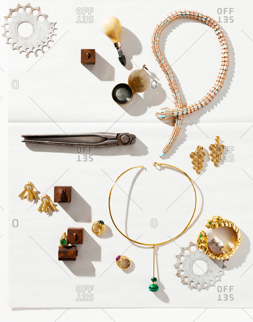 March 3, 2016: Variety of gold jewelry