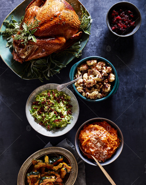Thanksgiving turkey and sides