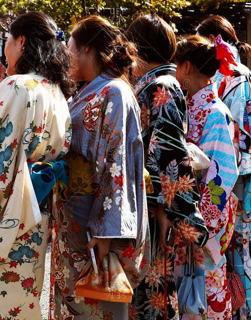 Tokyo, Japan - November 19, 2018: Kimono