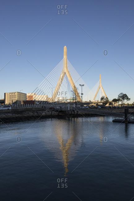 A view of Leonard P. Zakim Bunker Hill Bridge in Boston.