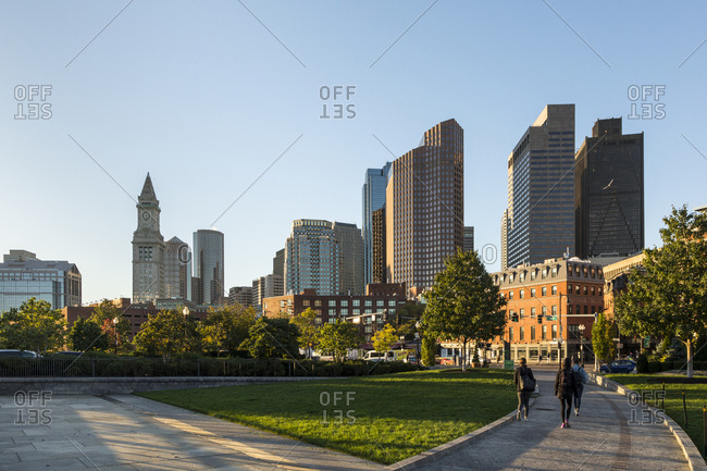 Boston, MA, USA - October 17, 2017: A view of Custom House Tower in Boston.