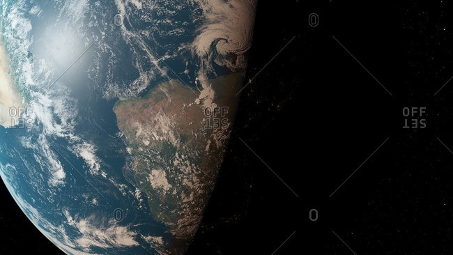 Illustration of the Earth from space.