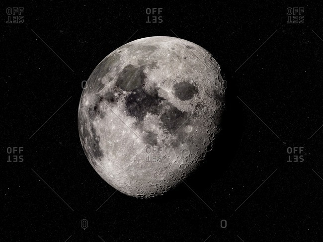 Illustration of the moon.