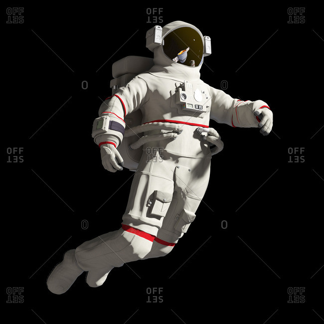 Illustration of an astronaut in space.