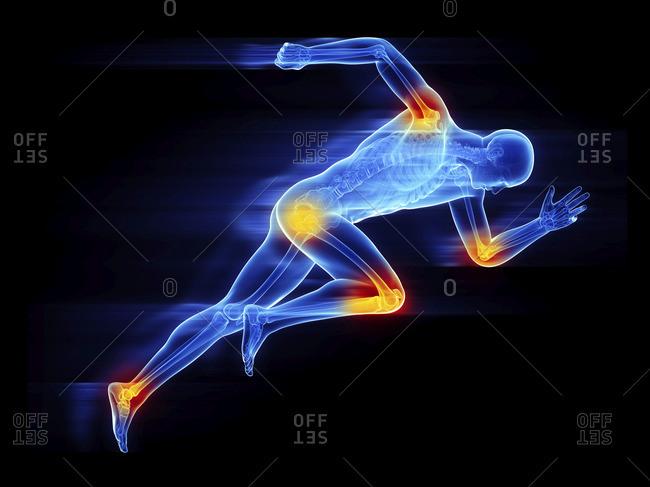 Illustration of a sprinter.