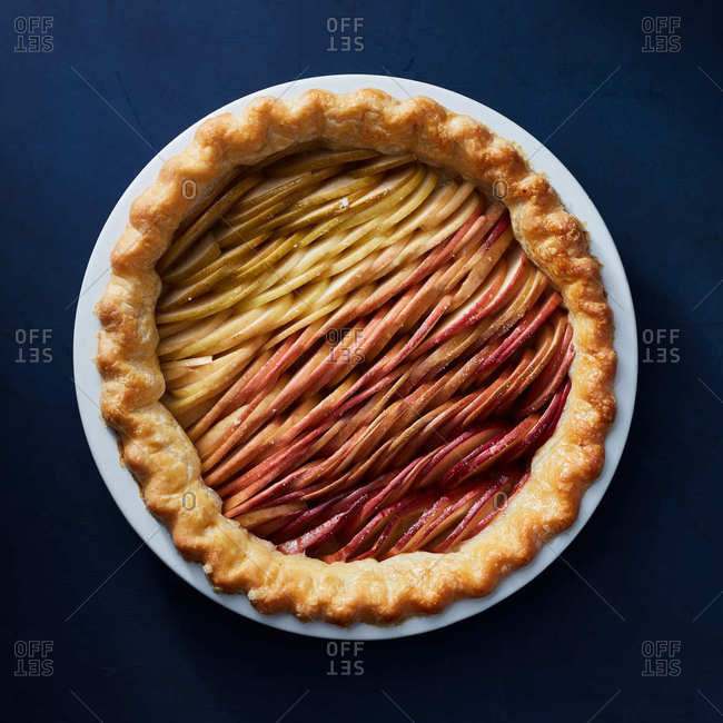 Apple ombre pie