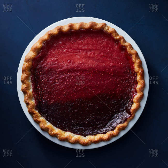 Berry gradient pie
