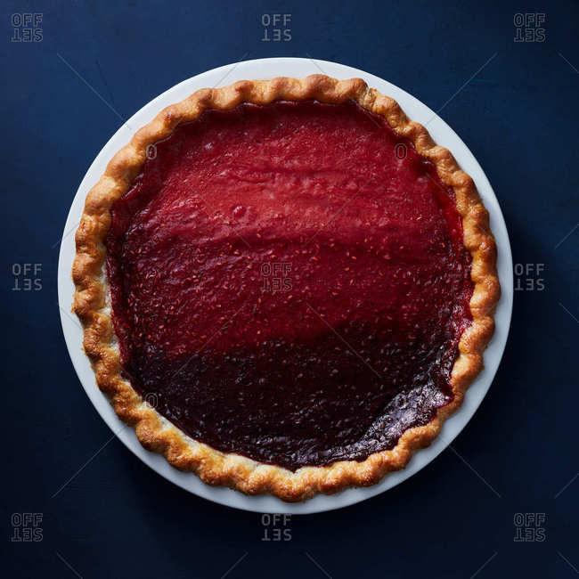 Berry gradient pie
