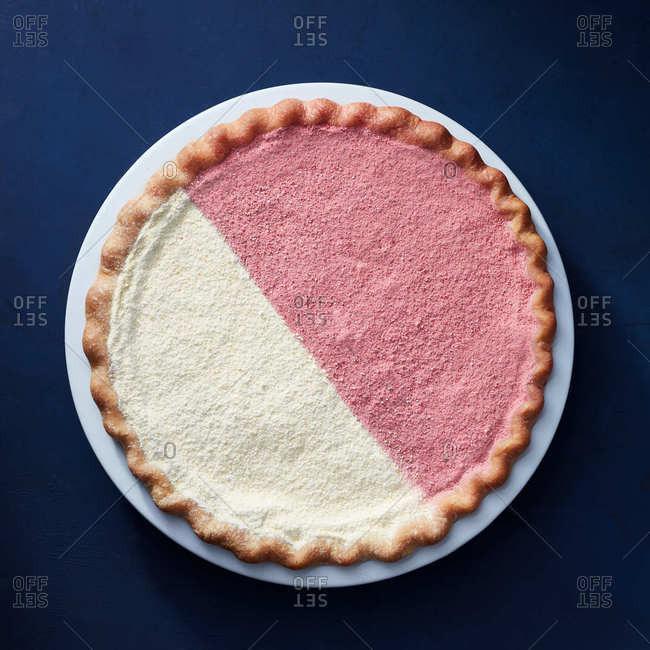 Half and half pie