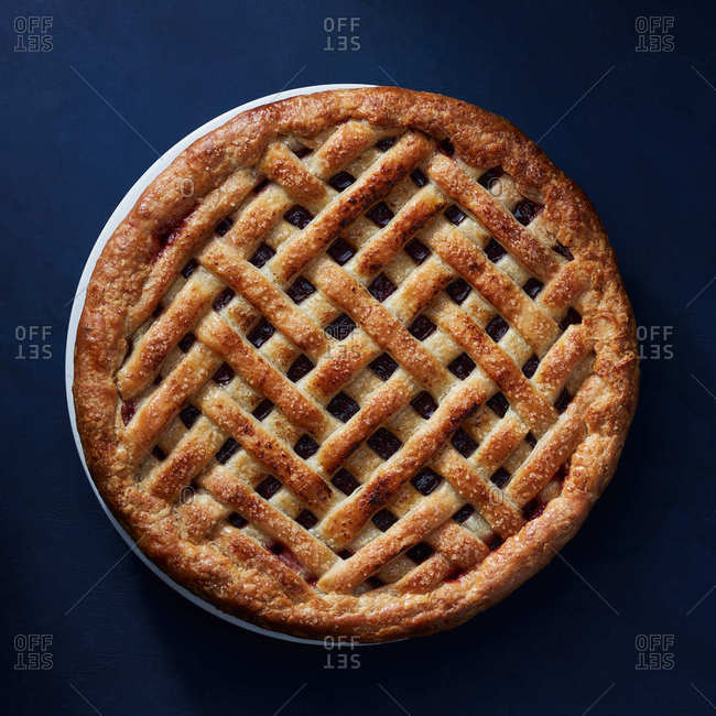 Herring bone lattice pie - Offset