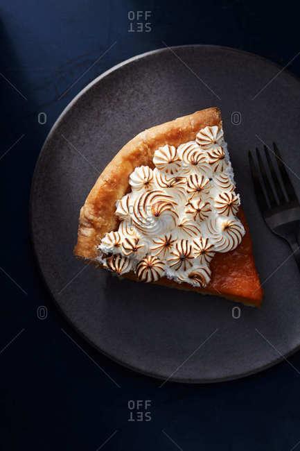 Slice of sweet potato pie