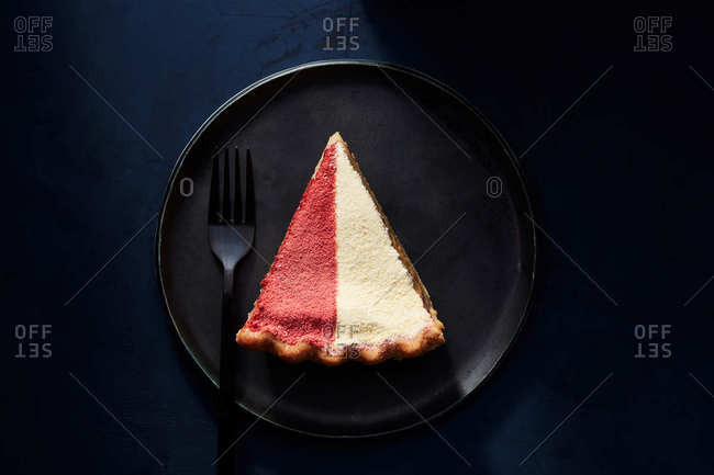 Slice of half and half pie