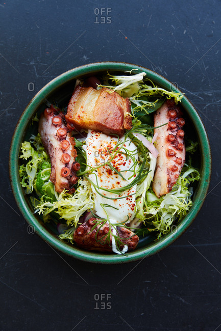 Octopus salad dish