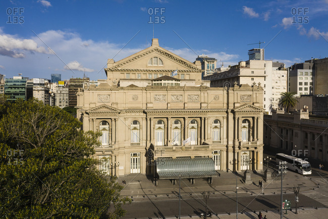 Buenos Aires, Argentina - November 17, 2018: Teatro Col�n theatre in Buenos Aires