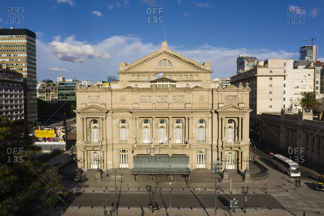 Buenos Aires, Argentina - November 17, 2018: Teatro Col�n theatre in downtown Buenos Aires
