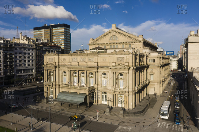 Buenos Aires, Argentina - November 17, 2018: The Teatro Col�n theatre in downtown Buenos Aires