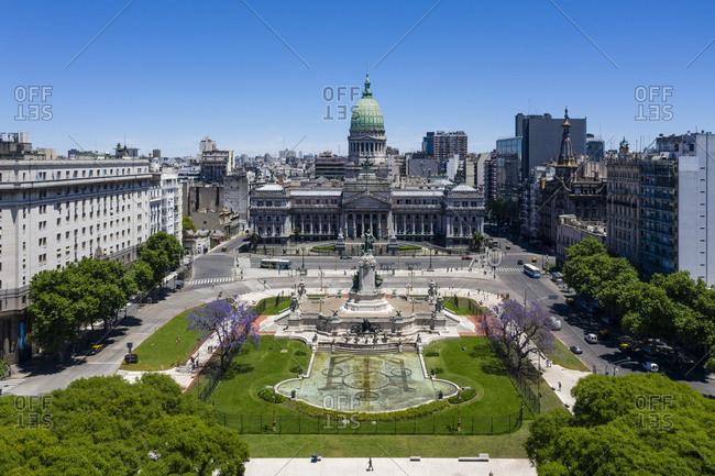 Buenos Aires, Argentina - November 18, 2018: The Congreso de la Nacion Argentina