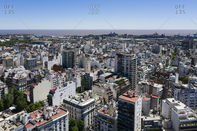Aerial view over Buenos Aires, Argentina