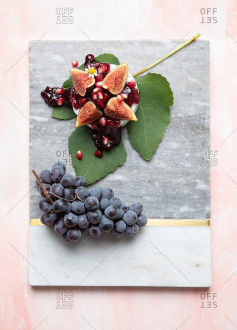 Colorful fresh fruit