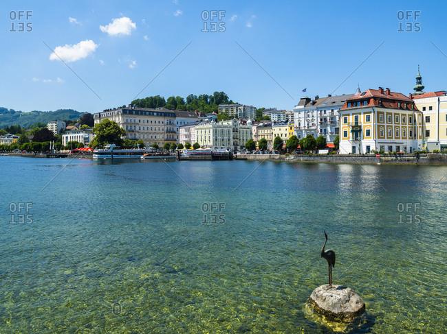 Austria- June 15, 2017: Upper Austria- Salzkammergut- Gmunden- Traunsee