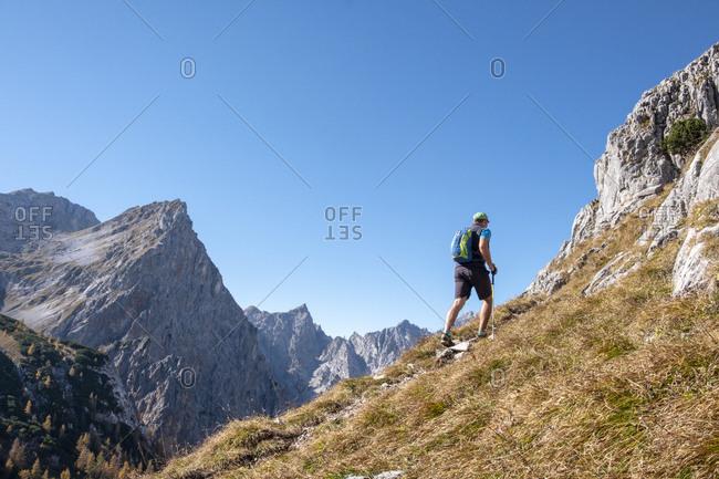 Germany- Bavaria- Upper Bavaria- Berchtesgadener Land- Berchtesgaden National Park- hiker