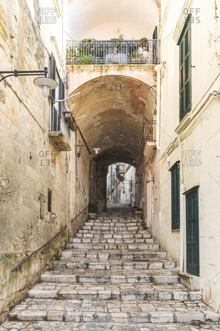 Italy- Basilicata- Matera- Old town- alley