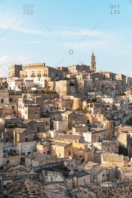 Italy- Basilicata- Matera- Townscape and historical cave dwelling- Sassi di Matera