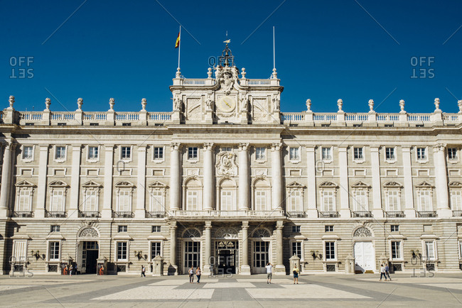 Madrid, Spain - October 9, 2016: Royal palace from outside