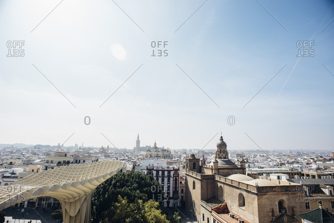 Seville, Spain - October 7, 2016: View of Sevilla from above 1