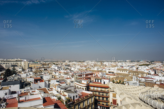 Seville, Spain - October 7, 2016: View of Sevilla from above 2