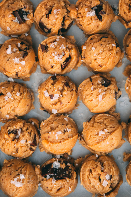 Chocolate chip sea salt cookie dough balls