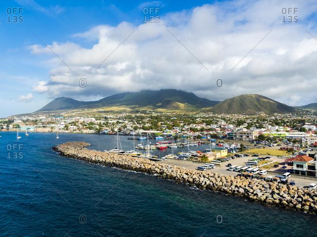 Caribbean- Lesser Antilles- Saint Kitts and Nevis- Basseterre- harbor