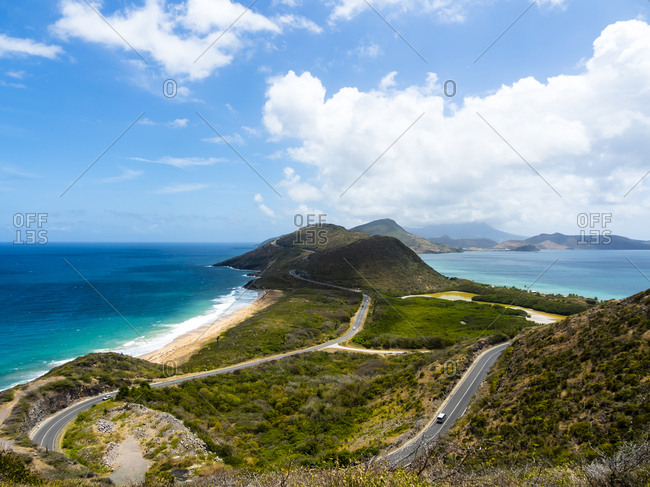 Caribbean- Lesser Antilles- Saint Kitts and Nevis- Basseterre- View to salt pond