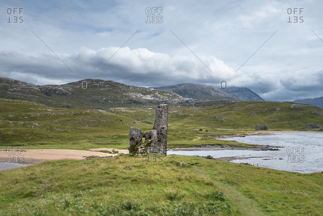 United Kingdom- Scotland- Sutherland- Ardvreck Castle at Loch Assynt
