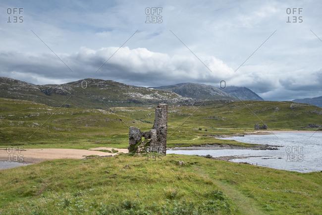 United Kingdom- Scotland- Sutherland- Ardvreck Castle at Loch Assynt