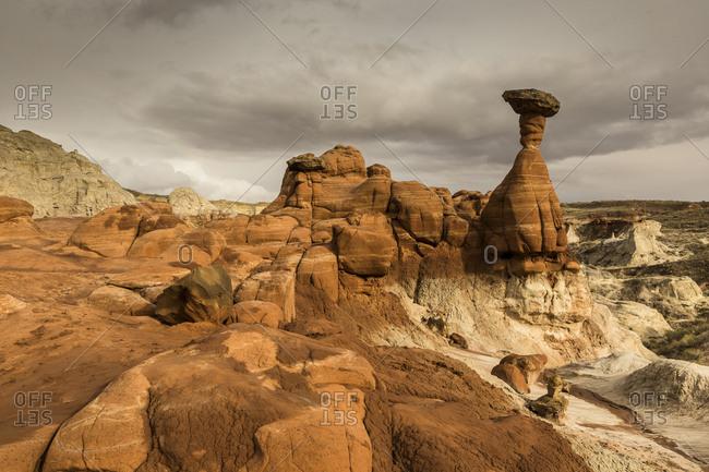 America- Arizona- Kanab- Pariia Rimrocks- Toadstool Hoodoos
