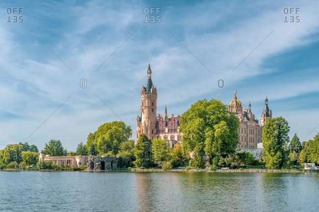 Germany- Mecklenburg-Western Pomerania- Schwerin- Schwerin Palace- Lake Schwerin