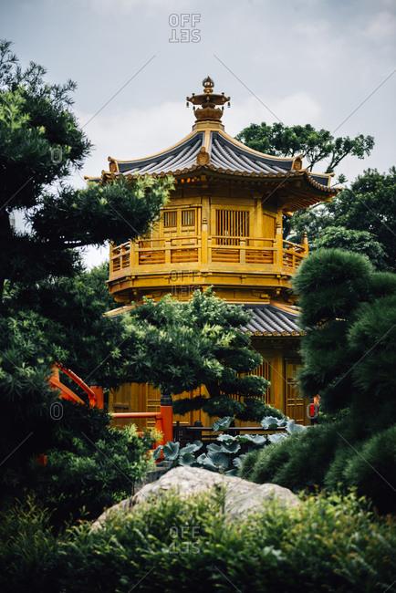 China- Hong Kong- Diamond Hill- Nan Lian Garden- Golden Pavilion of Absolute Perfection