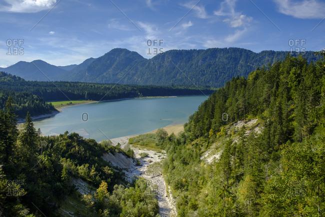 Germany- Upper Bavaria- Sylvenstein Dam- Schuerpfengraben