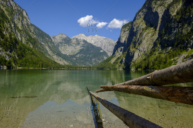 Germany- Bavaria- Upper Bavaria- Berchtesgaden Alps- Berchtesgaden National Park- Salet- Fischunkelalm at Lake Obersee