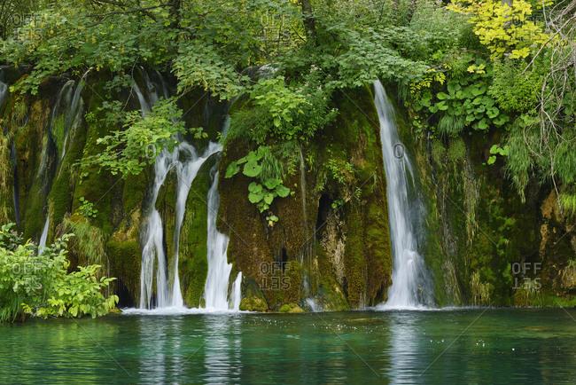 Waterfall in Plitvice Lakes National Park-  UNESCO World Heritage Site- Croatia