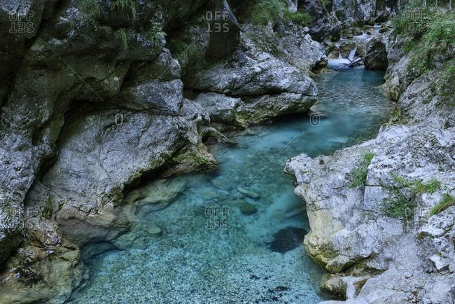 Slovenia- Tolmin- Triglav National Park- Tolmin Gorges