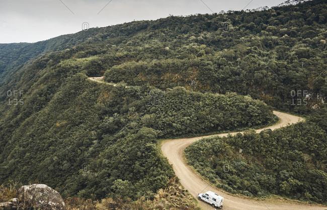 Brazil- Aparados da Serra- caravan on gravel road