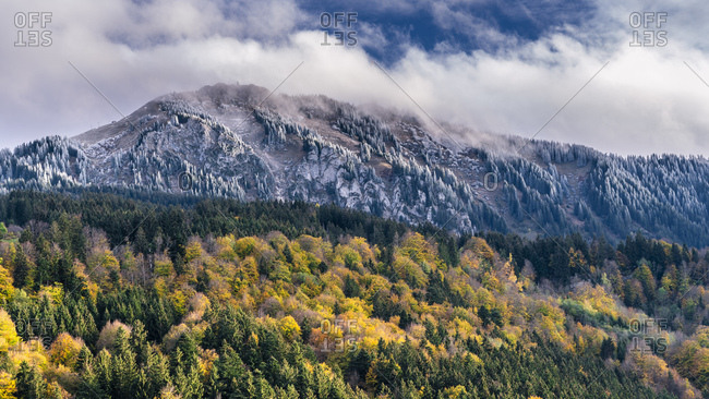 Germany- Bavaria- Oberallgaeu- Gruenten in autumn