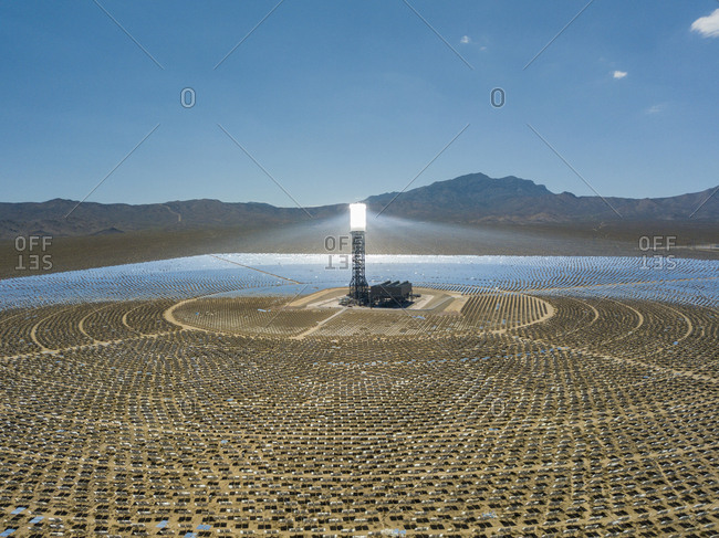 USA- Las Vegas- solar power field
