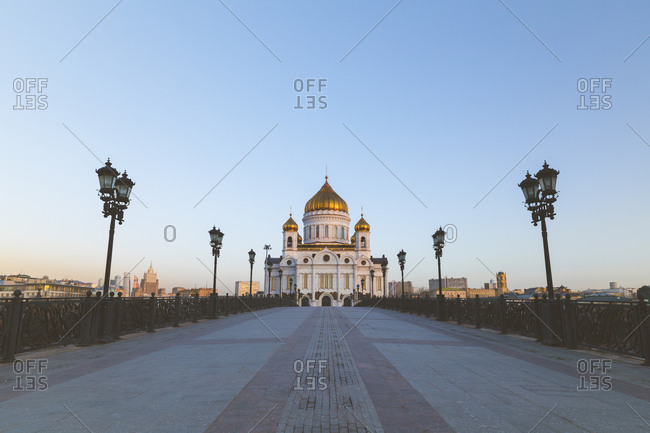 Russia- Moscow- Cathedral of Christ the Savior at sunrise