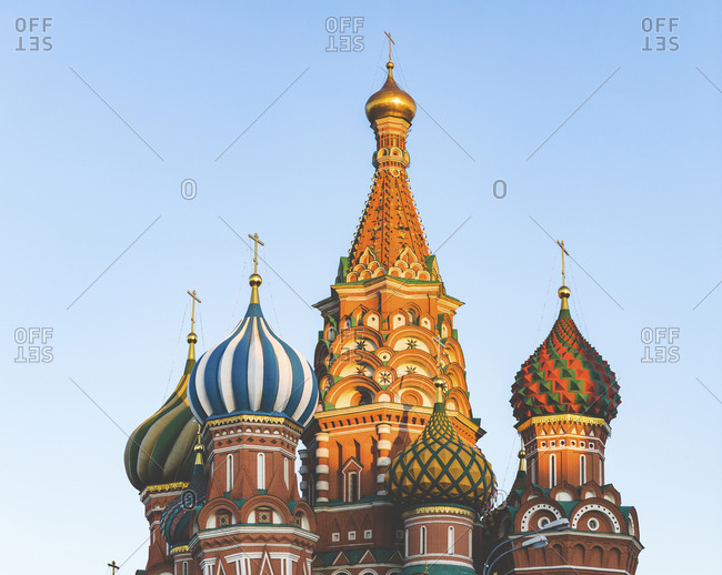 Russia- Moscow- close up on St Basil's Cathedral in the Red Square