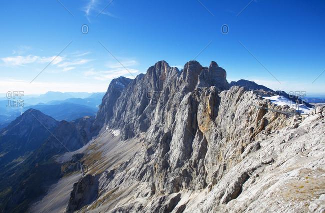 Austria- Styria- Salzkammergut- Dachstein- View from Hunerkogel to Hoher Dachstein- Dachstein massif